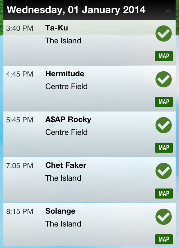 Field Day 2014 - Lineup